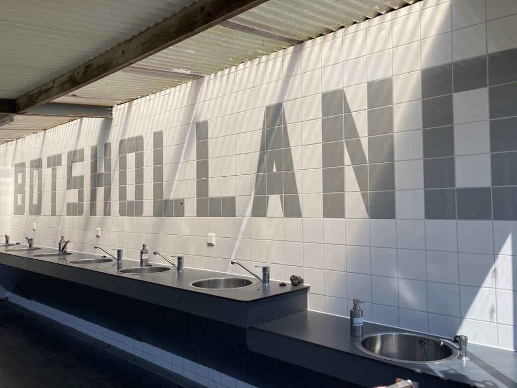 Nieuwe sanitair groep